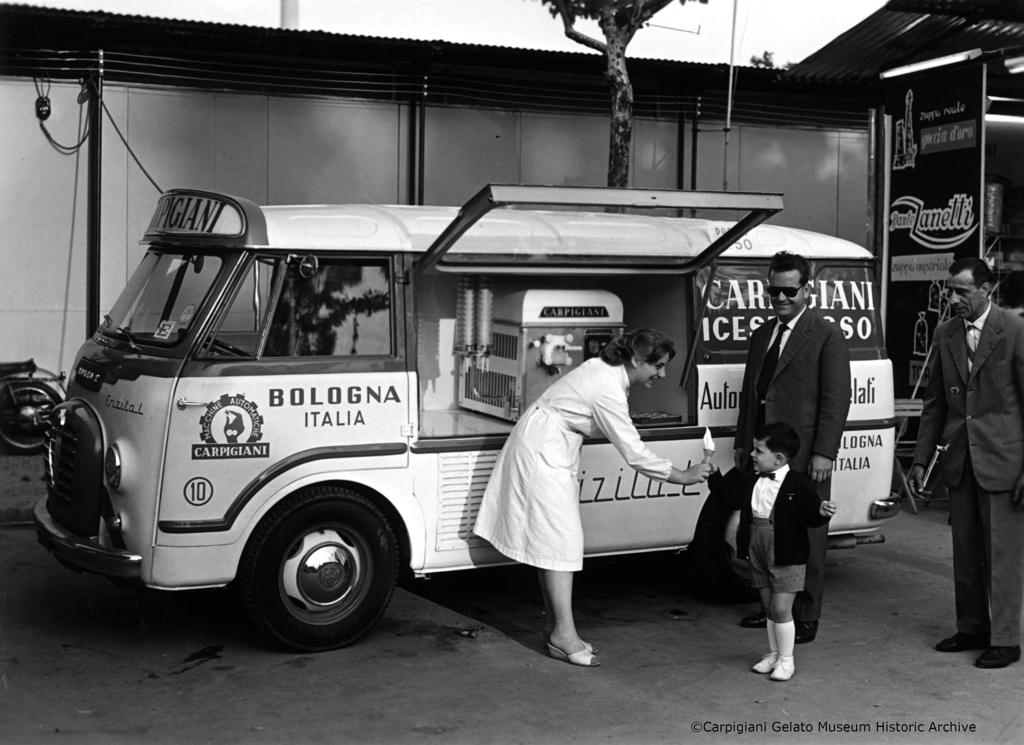 Carpigiani vehicle carrying soft serve machine