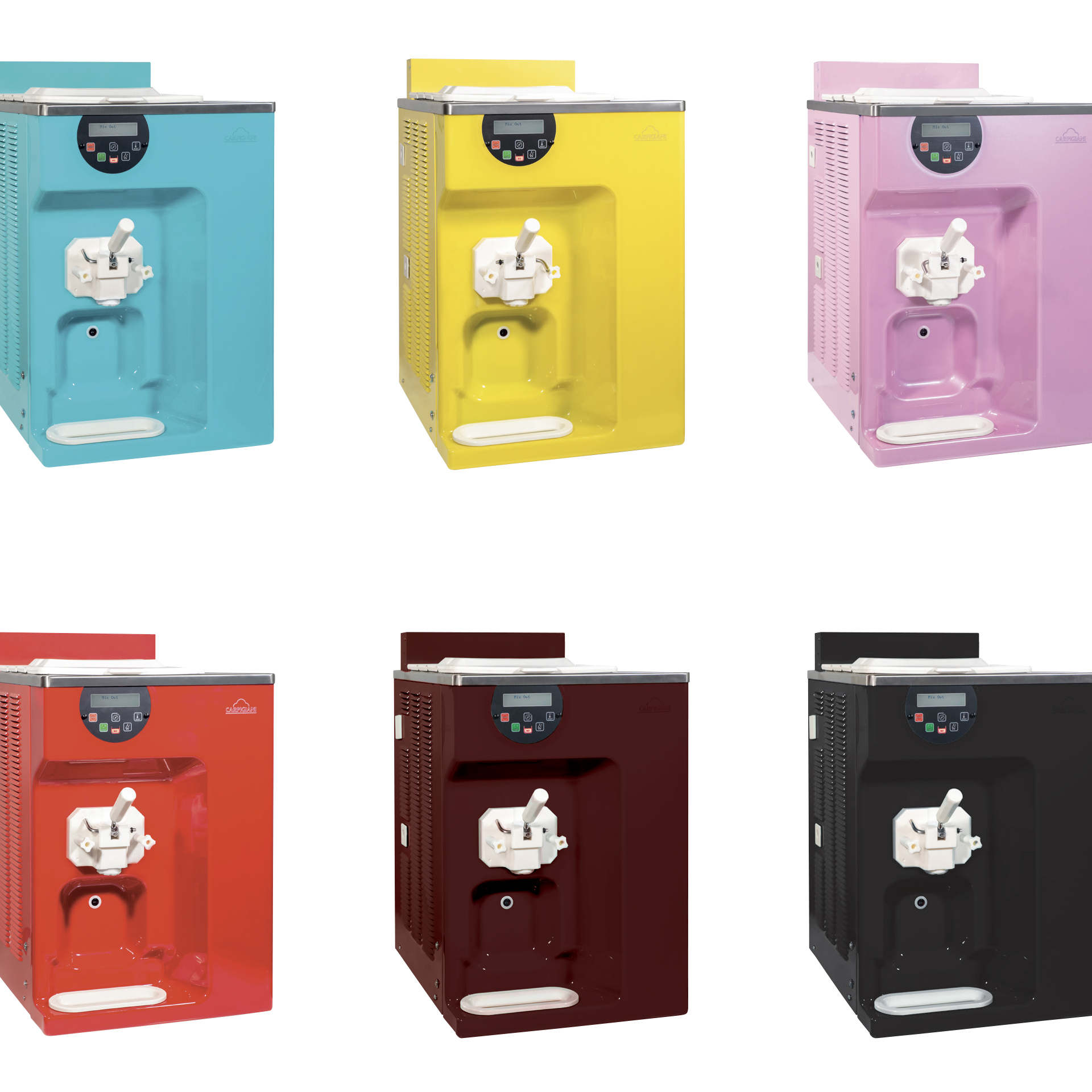 Carpigiani Soft Serve Machine - available colors for machine personalization