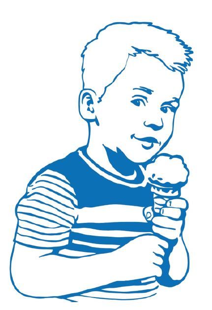 Child eating gelato